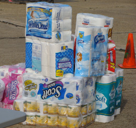 Shelter Toilet Paper Drive